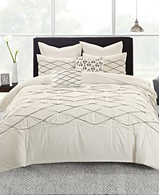 Sunita Cotton 7-Pc. Full/Queen Duvet Cover Set