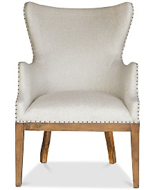Baldessa Curved Back Arm Chair, Quick Ship