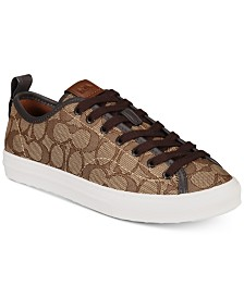 COACH Jacquard Signature Fashion Sneakers