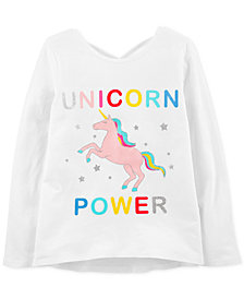 Carter's Little & Big Girls Unicorn Power Graphic Cotton Shirt