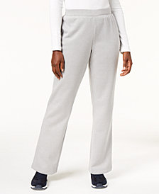 Karen Scott Petite Fleece Sweatpants, Created for Macy's