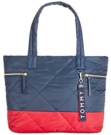 Tommy Hilfiger Kensington Quilted Colorblocked Tote