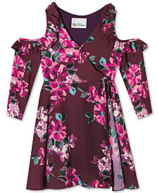 Rare Editions Little Girls Cold Shoulder Wrap Dress