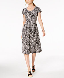 NY Collection Petite Printed Sheath Dress