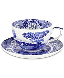 Blue Italian Jumbo Cup & Saucer