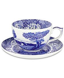 Spode Blue Italian Jumbo Cup & Saucer