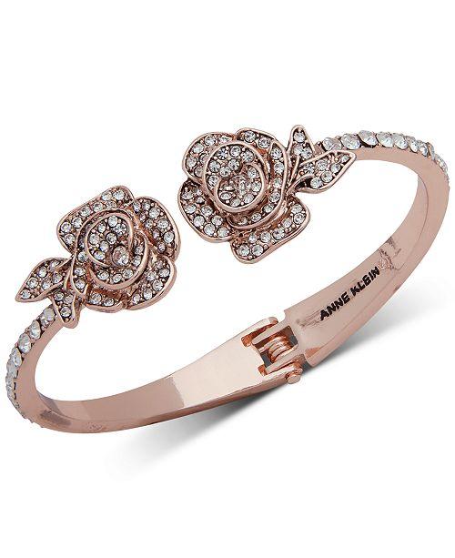 Anne Klein Rose Gold Tone Crystal