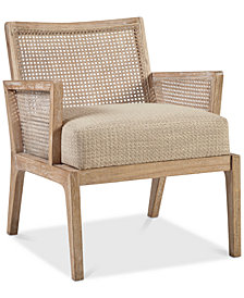 Kelly Cane Lounge Chair, Quick Ship