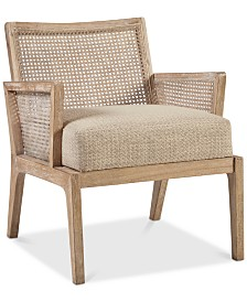 Leon Cane Lounge Chair, Quick Ship