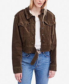 Free People Everlyn Embroidered Corduroy Jacket