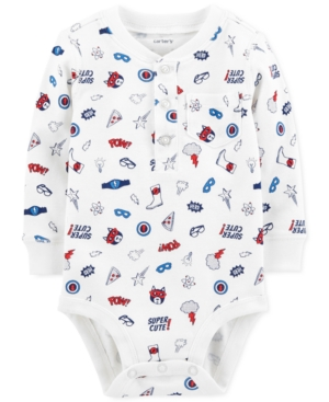 Carters Baby Boys Super HeroPrint Cotton Bodysuit