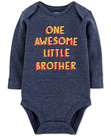 Carter's Baby Boys Awesome Brother Graphic-Print Cotton Bodysuit