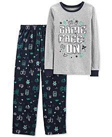 Carter's Little & Big Boys 2-Pc. Game Face Pajama Set