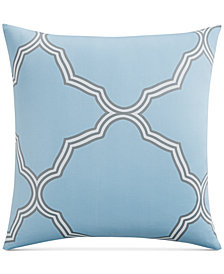 Charter Club Damask Designs Tile Geo European Sham, Created for Macy's