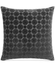 "Hotel Collection Marble Geo 20"" Square Decorative Pillow, Created for Macy's"