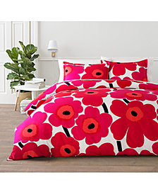 Marimekko Unikko Cotton 3-Pc. King Duvet Cover Set