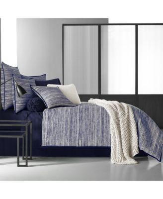 Oscar|Oliver Flen Cotton 4-Pc. Indigo Full Comforter Set