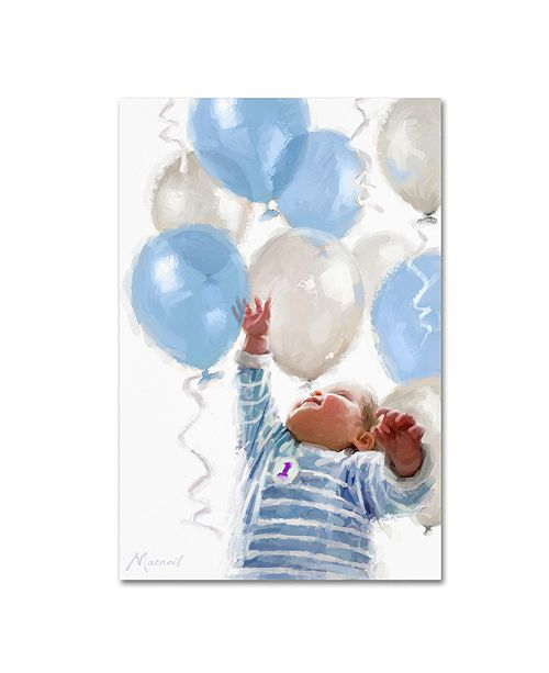 "Trademark Global The Macneil Studio 'Baby with Balloons' Canvas Art - 12"" x 19"""