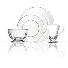 La Rochere Perigord 24 Piece Glass Dinner Set, Service for 6