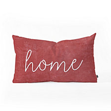 Deny Designs Monika Strigel Farmhouse Home Chalkboard Red Oblong Throw Pillow