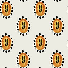Genevieve Gorder for Tempaper Maya's Papayas Self-Adhesive Wallpaper