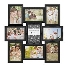 Collage Picture Frame with 9 Openings for 4x6 Photos by Lavish Home, Black