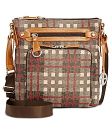 f13e454be8f Giani Bernini Plaid Block Signature Crossbody, Created for Macy s