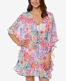 Bleu Rod Beattie Printed Ruffle Cover Up