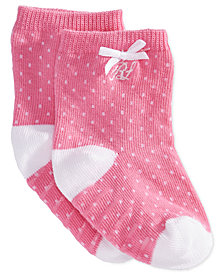 Ralph Lauren Baby Girls Pindot Crew Socks