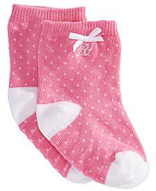 Ralph Lauren Baby Girls Pindot Crew Socks