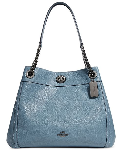 621deb9ea421 COACH Turnlock Edie Shoulder Bag in Pebble Leather   Reviews ...