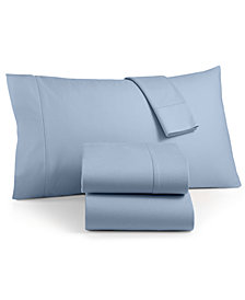 Martha Stewart Collection Luxury 100% Cotton Flannel 4-Pc. California King Sheet Set, Created for Macy's