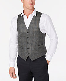 Lauren Ralph Lauren Men's Classic-Fit Gray Plaid Wool Vest
