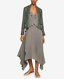 BCBGMAXAZRIA Scalloped Lace Jacket