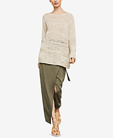 BCBGMAXAZRIA Mixed-Stitch Sweater
