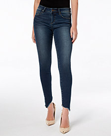 Articles of Society Sammy Frayed Asymmetrical Skinny Jeans