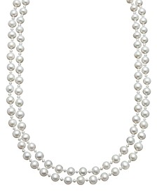 Pearl Necklace, Sterling Silver Cultured Freshwater Pearl Two Row Strand