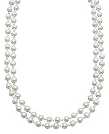 Belle de Mer Pearl Necklace, Sterling Silver Cultured Freshwater Pearl Two Row Strand