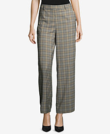 ECI Plaid Wide-Leg Trousers