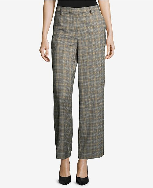 a57f52fe33 ECI Plaid Wide-Leg Trousers & Reviews - Pants & Capris - Women - Macy's