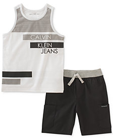 Calvin Klein Little Boys 2-Pc. Tank Top & Shorts Set