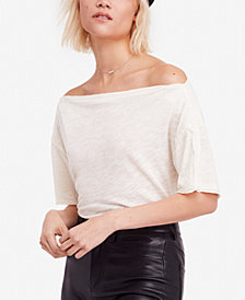 Free People She's So Cool Off-The-Shoulder Top