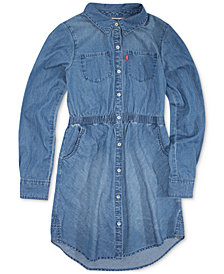 Levi's® Little Girls Cotton Denim Shirtdress