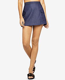 BCBGeneration Patch-Pocket Denim Skort
