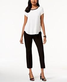 Alfani T-Shirt & Slim-Leg Pants, Created for Macy's