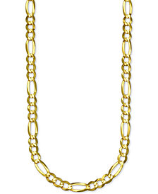 "Italian Gold Figaro Link 26"" Chain Necklace in 14k Gold"