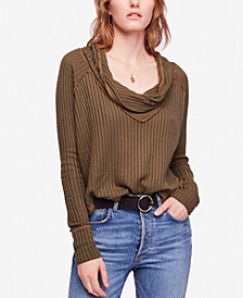 Free People Wildcat High-Low Thermal Sweater