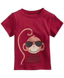 First Impressions Baby Boys Cotton Monkey T-Shirt, Created for Macy's