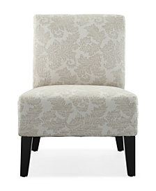 Monaco Accent Chair, Fern Ivory