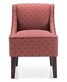 Phoenix Accent Chair, Gigi Crimson